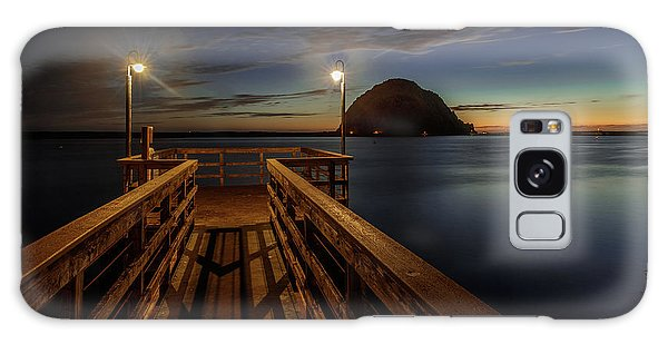 Blue Hour At Morro Bay Galaxy Case