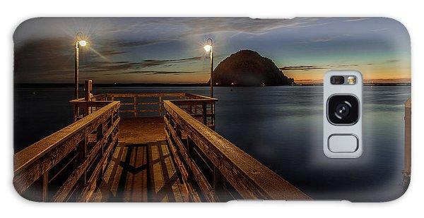 Blue Hour At Morro Bay Galaxy Case