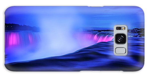 Blue Hour At Niagara Falls Galaxy Case