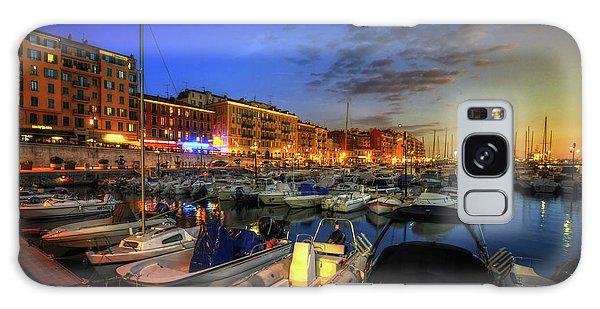 Blue Hour At Port Nice 1.0 Galaxy Case by Yhun Suarez