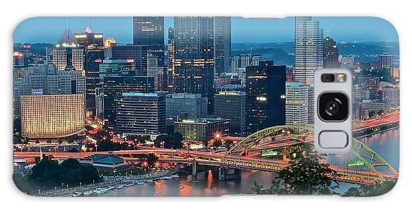 Blue Hour In Pittsburgh Galaxy Case
