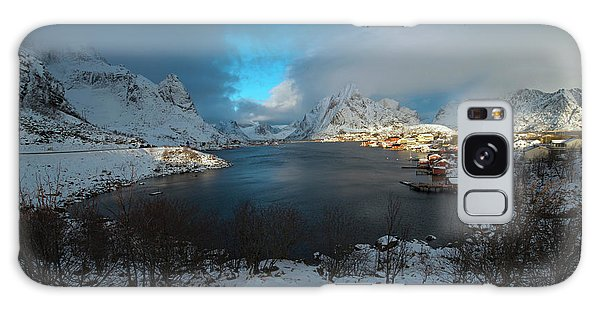 Galaxy Case featuring the photograph Blue Hour Over Reine by Dubi Roman