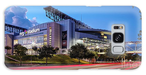 Blue Hour Photograph Of Nrg Stadium - Home Of The Houston Texans - Houston Texas Galaxy Case