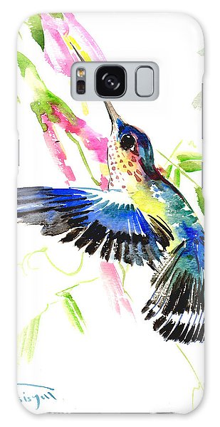 Blue Hummingbird Galaxy Case