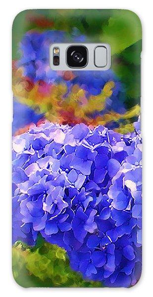 Blue Hydrangea Galaxy Case