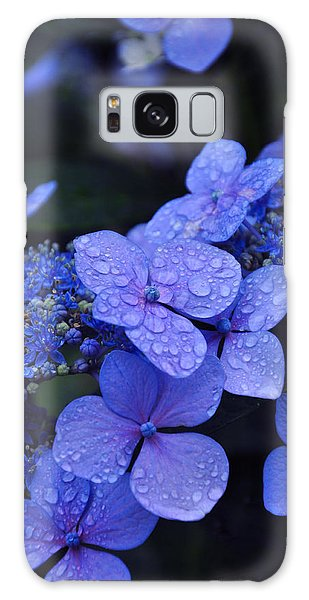 Drop Galaxy Case - Blue Hydrangea by Noah Cole