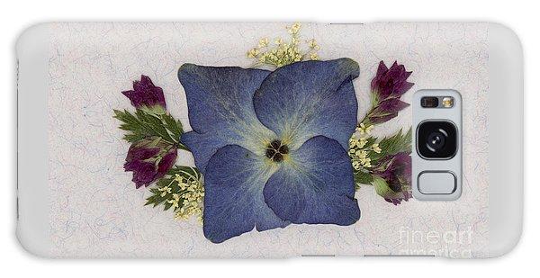 Blue Hydrangea Pressed Floral Design Galaxy Case