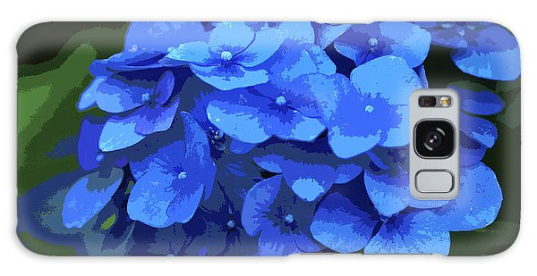 Blue Hydrangea Stylized Galaxy Case