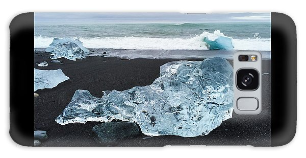 Blue Ice In Iceland Jokulsarlon Galaxy Case