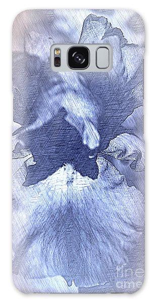 Blue Iris Abstract Galaxy Case