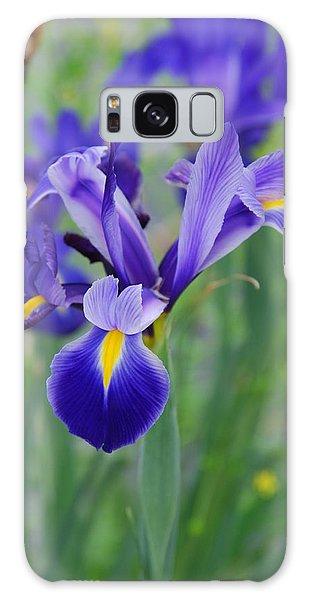 Blue Iris Flower Galaxy Case