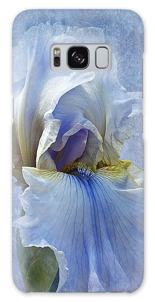 Blue Iris Fog Galaxy Case by Phyllis Denton