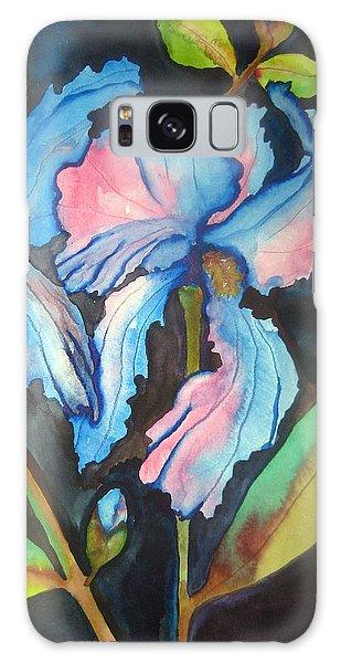 Blue Iris Galaxy Case by Lil Taylor