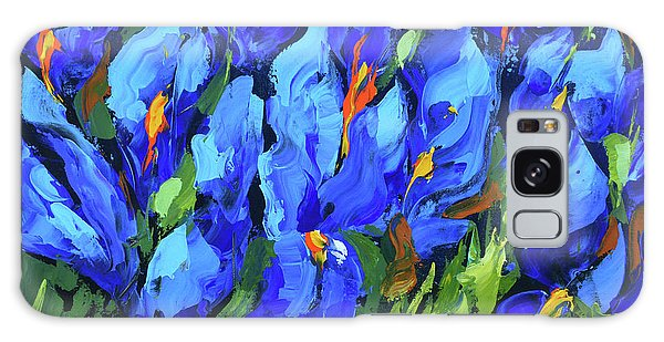 Blue Irises Galaxy Case by Dmitry Spiros