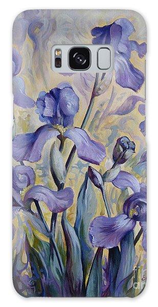 Blue Irises Galaxy Case