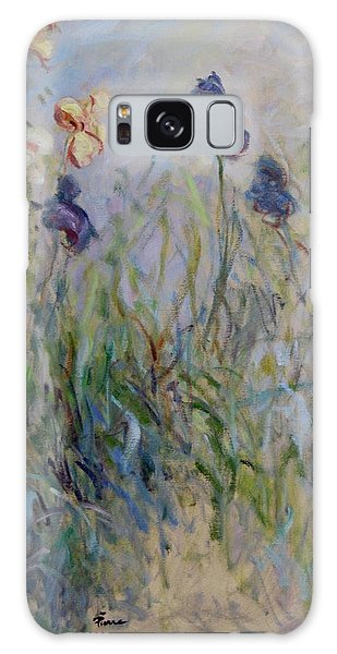 Blue Irises In The Field, Painted In The Open Air  Galaxy Case