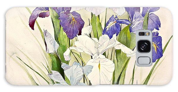 Blue Irises-posthumously Presented Paintings Of Sachi Spohn  Galaxy Case