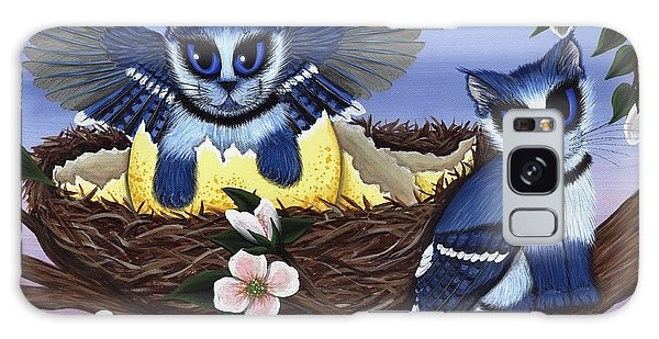 Blue Jay Kittens Galaxy Case