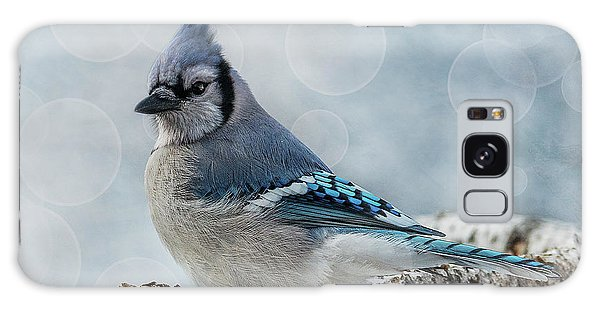 Blue Jay Perch Galaxy Case