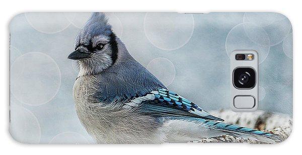 Blue Jay Perch Galaxy Case
