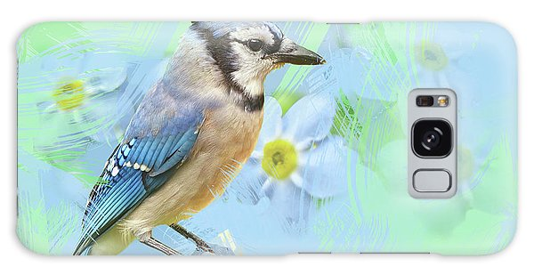 Blue Jay Watercolor Photo Galaxy Case by Heidi Hermes