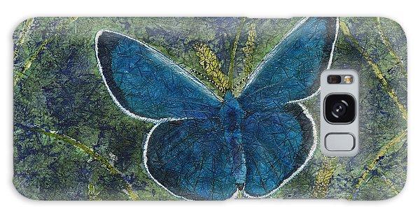 Blue Karner Butterfly Watercolor Batik Galaxy Case