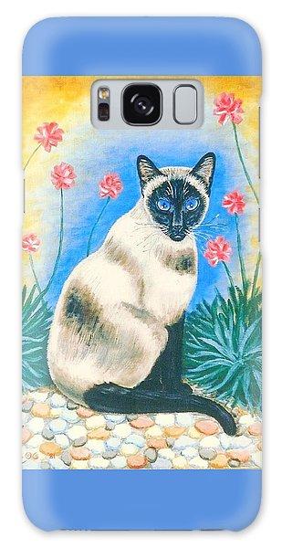 Blue Kitty Galaxy Case