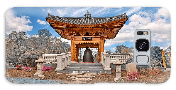 Blue Korean Bell Garden Galaxy Case by Nicolas Raymond