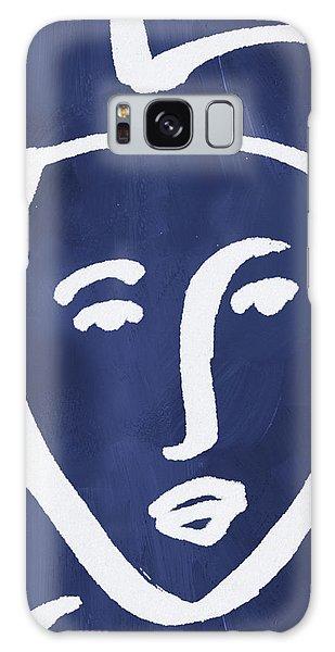 Lady Galaxy Case - Blue Lady- Art By Linda Woods by Linda Woods