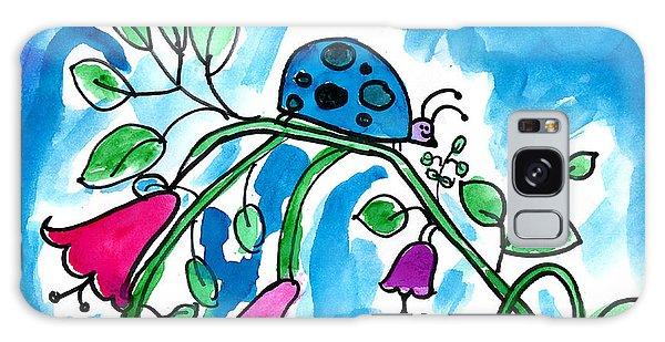 Blue Ladybug Galaxy Case