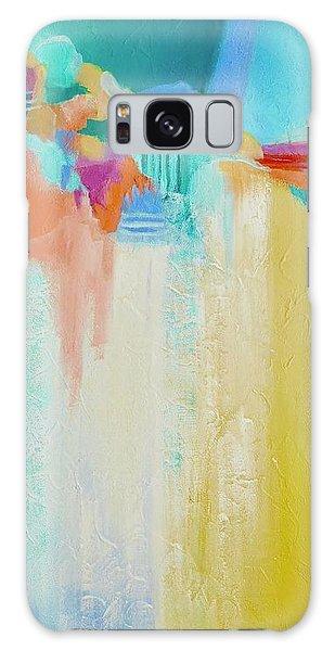 Blue Lagoon Galaxy Case by Irene Hurdle