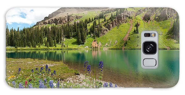 Blue Lakes Summer Splendor Galaxy Case
