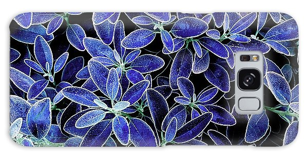 Blue Leaves Galaxy Case
