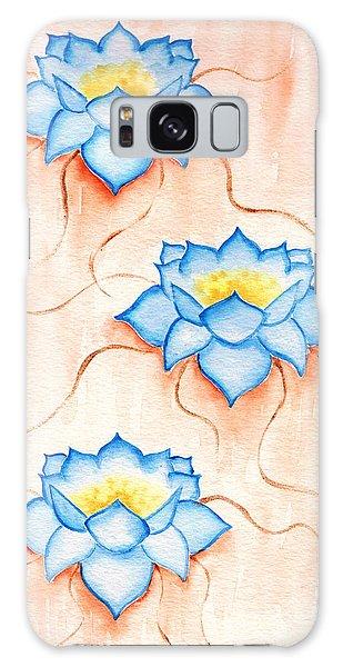 Blue Lilies Galaxy Case