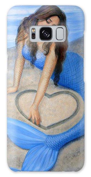Blue Mermaid's Heart Galaxy Case