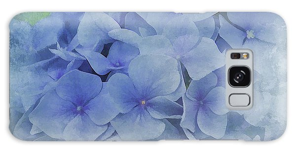 Blue Moments Galaxy Case by Elaine Manley