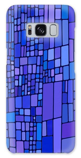 Blue Mondrian Galaxy Case