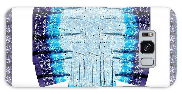 Blue Moon Butterfly Womens Fashion Couture From Jaipur India Cotton Printed Fabric With Embroidary W Galaxy Case