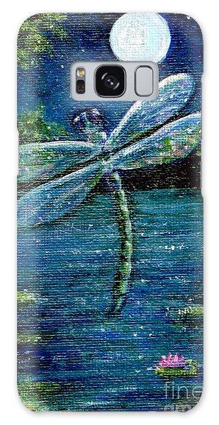 Blue Moon Dragonfly Galaxy Case by Sandra Estes