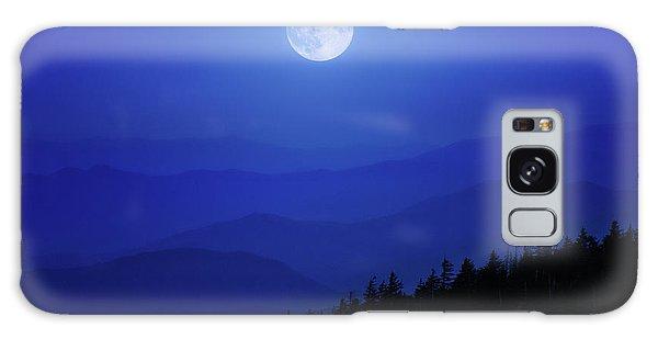 Blue Moon Over Smoky Mountains Galaxy Case