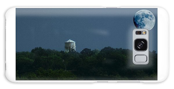 Blue Moon Over Zanesville Water Tower Galaxy Case