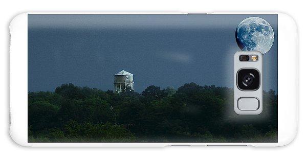 Blue Moon Over Zanesville Water Tower Galaxy Case