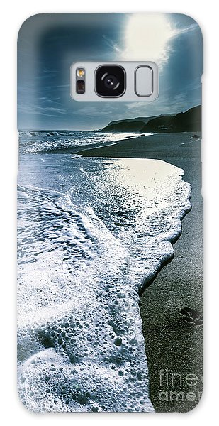 Galaxy Case featuring the photograph Blue Moonlight Beach Landscape by Jorgo Photography - Wall Art Gallery