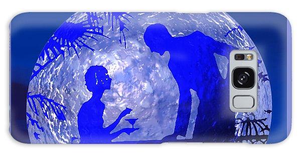 Blue Moonlight Lovers Galaxy Case