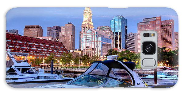 Powerboat Galaxy Case - Blue Morning On Boston Harbor by Susan Cole Kelly