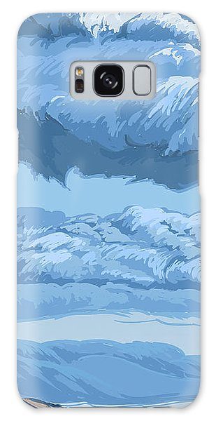 Blue Morning Galaxy Case