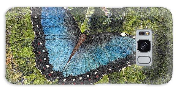 Blue Morpho Butterfly Batik Galaxy Case