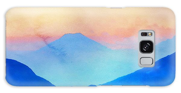 Blue Mountains Watercolour Galaxy Case