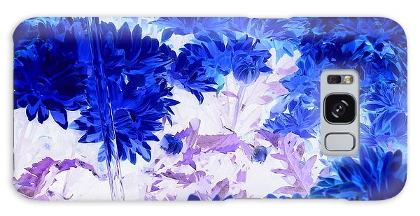 Blue Mums And Water Galaxy Case