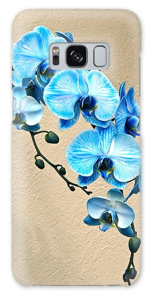 Blue Mystique Orchid Galaxy Case